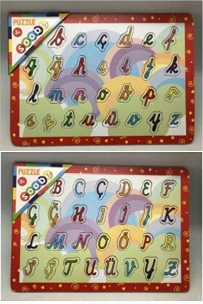 Soobe Ahşap Puzzle Alfabe 2li Set Büyük ve Küçük Harfler Ltı576kdk