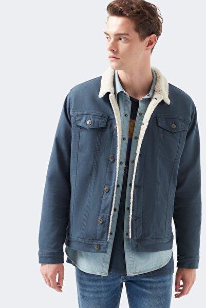 Mavi Frank Suni Kürklü Lacivert Ceket