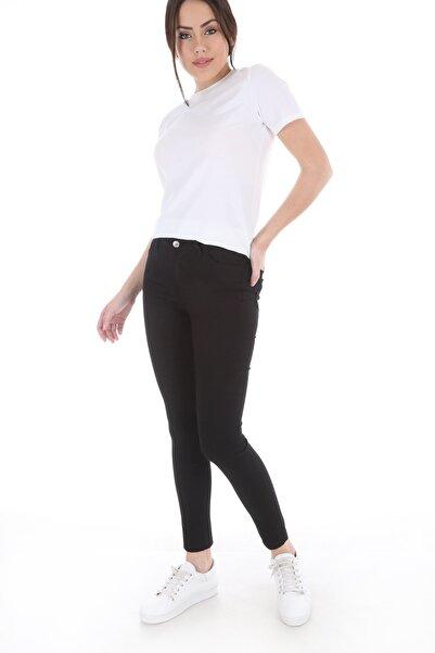 Bigdart Kadın Siyah Cepli Gabardin Pantolon 6322