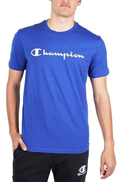 Champion Erkek Mavi T-shirt 214142-bs003