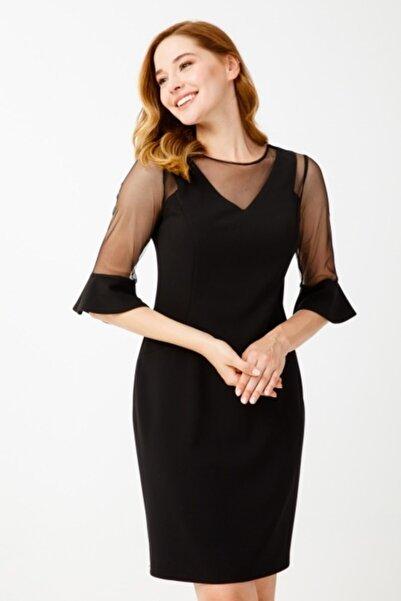 Ekol Kadın Siyah Elbise