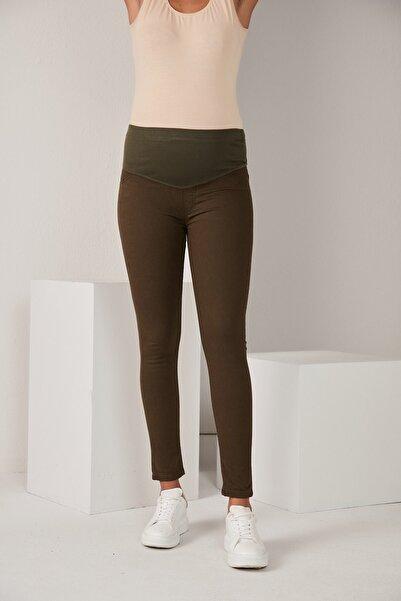Görsin Hamile Kadın Haki Pamuk Hamile Pantolon