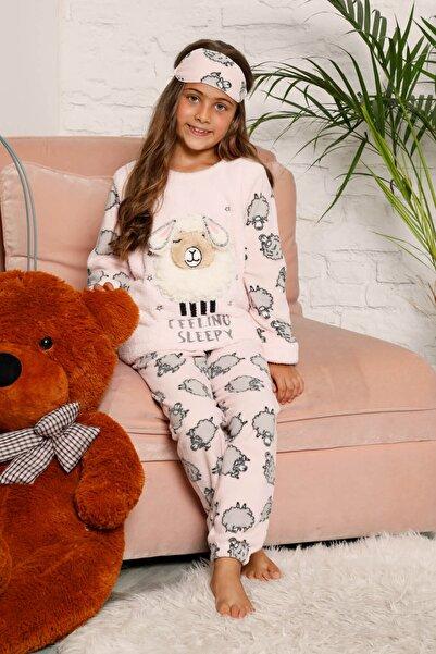 Mossta Kız Çocuk Pembe Welsoft Kışlık Pijama Takımı
