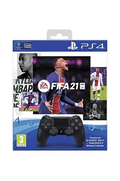 Sony Fifa 2021 PS4 Oyun & Dualshock 4 Siyah Bundle
