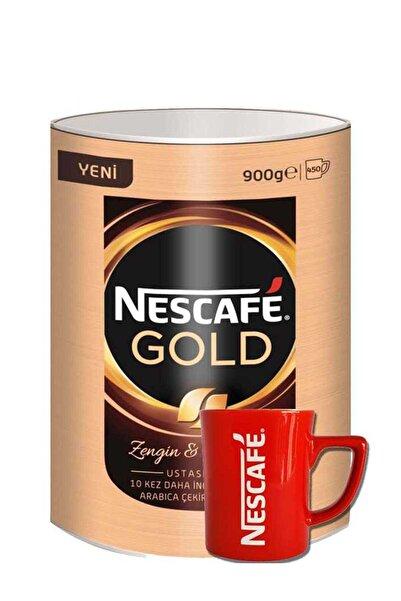 Nestle Gold Kahve Teneke Kutu 900 Gr + Kırmızı Kupa Hediyeli
