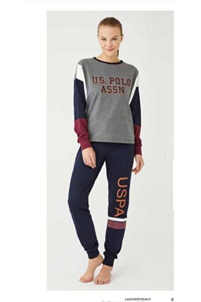 U.S. Polo Assn. Us Polo Assn 16379 Kadın Pijama Takımı Antrasit