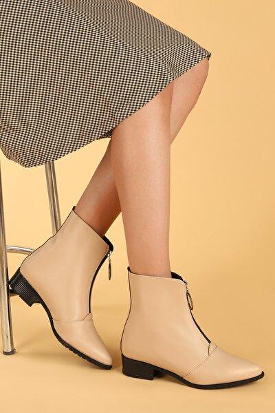 Ayakland 007-02 Cilt Fermuarlı Termo Taban Bayan Bot Ayakkabı