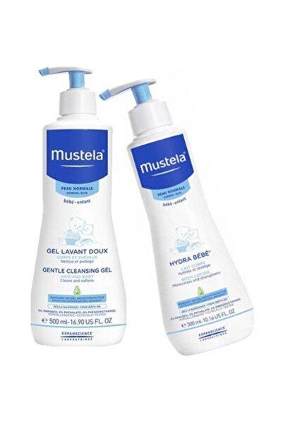 Mustela Gentle Cleansing Gel 500ml + Hdyra Bebe Losyon 300ml | Orijinal Boy Set