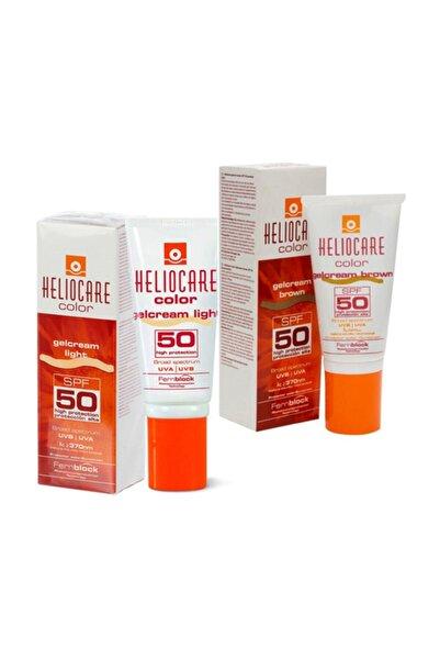 Heliocare Color Gel Krem Set | Lihgt / Brown 2 Renkli Set | Orijinal Boy 2 Li Set
