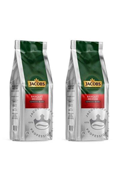 Jacobs Banquet Medium Espresso Beans Çekirdek Kahve 2 X 1 kg