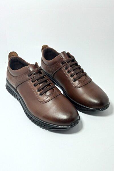 Master Erkek Taba Kışlık Deri  Günlük Ayakkabı