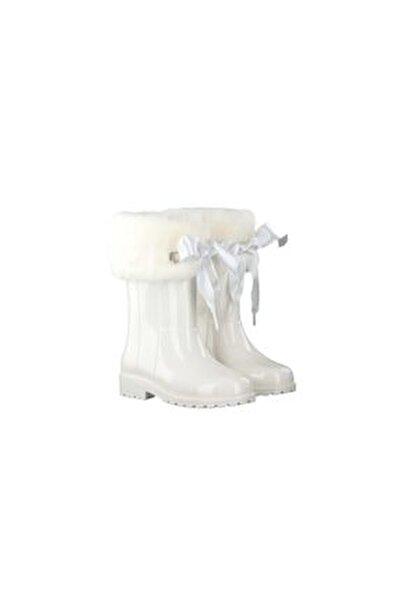 Kız Çocuk Beyaz Yağmur Çizmesi