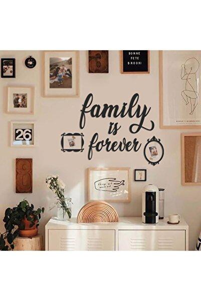 DEKOPOOD Family Is Forever Dekoratif Sticker, H40cm