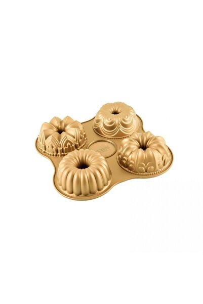 Emsan One Four 4'lü Kek Kalıbı Gold