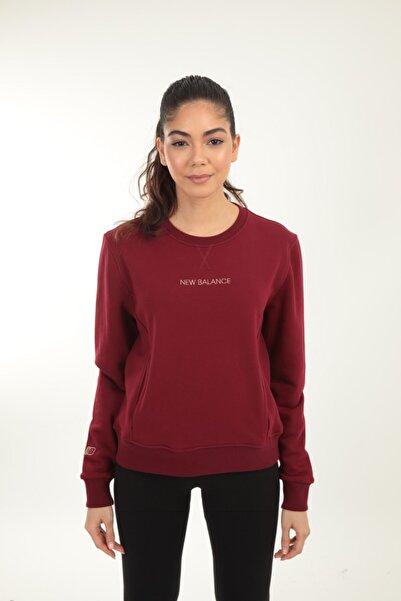 New Balance Kadın Bordo Sweatshirt