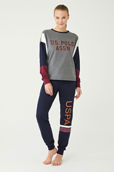 U.S POLO Kadın Antrasit Melanj Ev Giyim