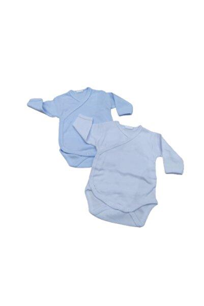 Puki Erkek Bebek Mavi 2'li Çıtçıtlı Body