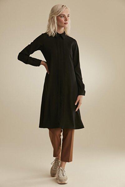 Tuğba Kadın Siyah Yakalı Tunik