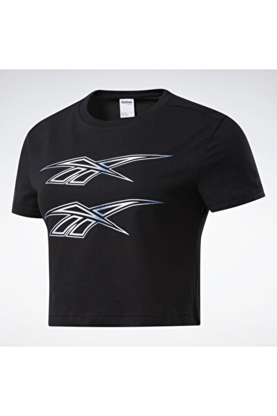 Reebok Kadın Siyah Classics Graphic T-shirt