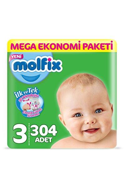 Molfix Bebek Bezi 3 Numara Midi Mega Ekonomi Paketi 304 Adet