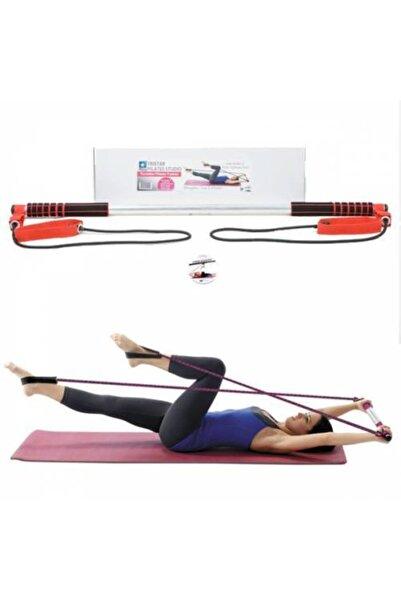 AVESSA Kırmızı Taşınabilir Pilates Studio Spor Aleti Egzersiz Çubuğu Squat Çubuğu