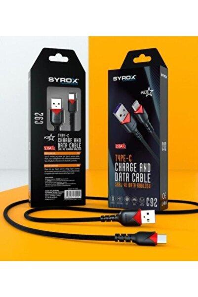 Syrox C92 Type-c Girişli 2.0a Şarj Ve Data Kablosu