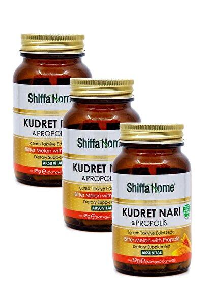 Shiffa Home 3 Adet Kudret Narı Propolisli 650 mg 60 Kapsül