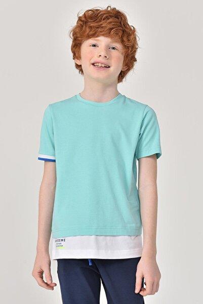 bilcee Turkuaz Erkek Çocuk T-Shirt GS-8163