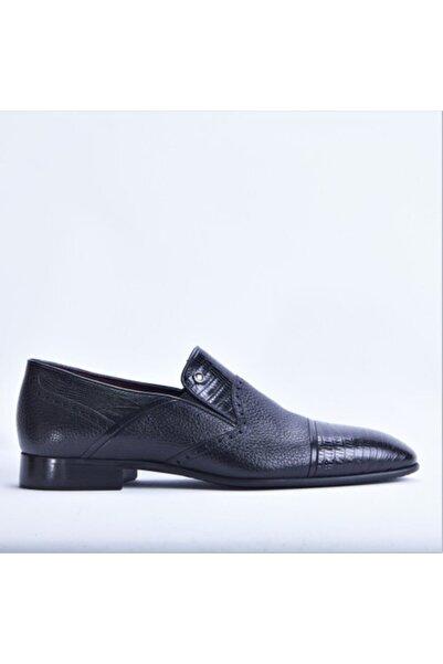 Santa Barbara Polo & Racquet Club Erkek Siyah Hakiki Deri Klasik Ayakkabı