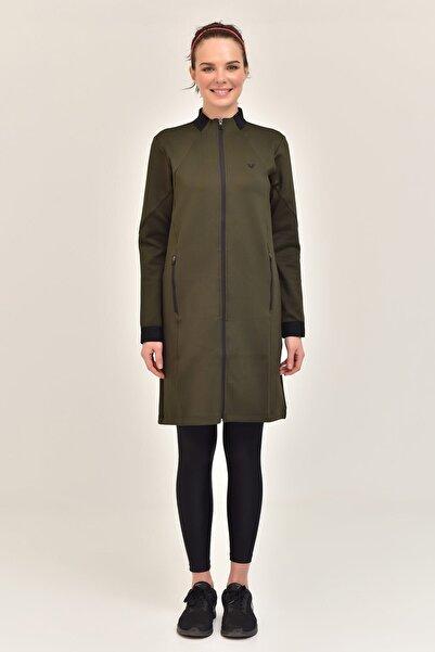 bilcee Haki Kadın Uzun Ceket  GS-1516