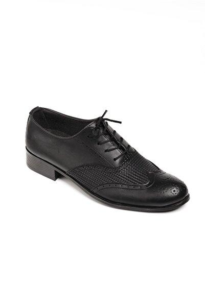 Oksit Erkek Siyah Bağcıklı Klasik Ayakkabı  003