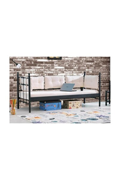 Vivense Lalas Metal Sofa Sedir Siyah 90x200cm
