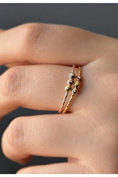 925 Ayar Gümüş Dorika Toplu Rose-gold Yüzük