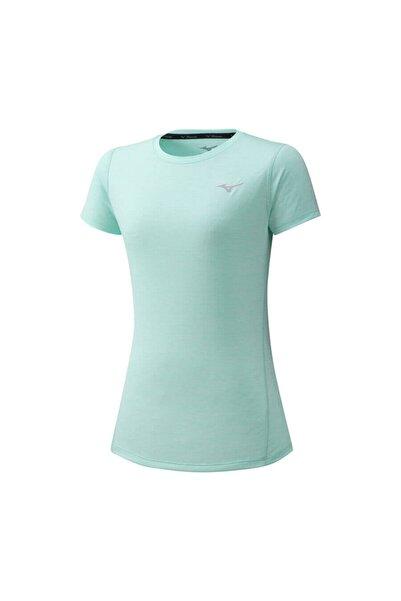 MIZUNO Kadın Yeşil Kısa Kollu Spor T-Shirt