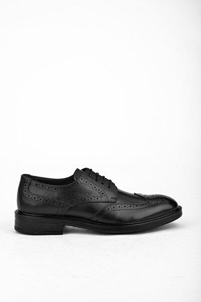 Ziya Erkek Sıyah Hakiki Deri Ayakkabı 10371 201