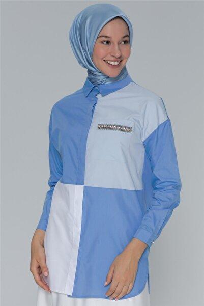 Armine Kadın Gömlek Cobalt