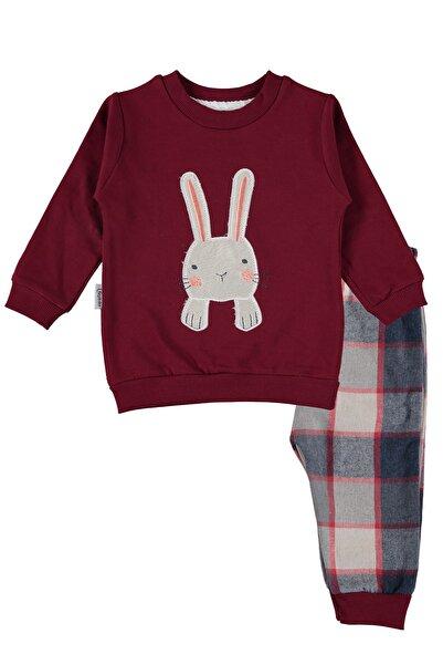hepbaby Tavşan Nakışlı, Ekoseli Bebek Pijama Takımı – 9-18 Ay