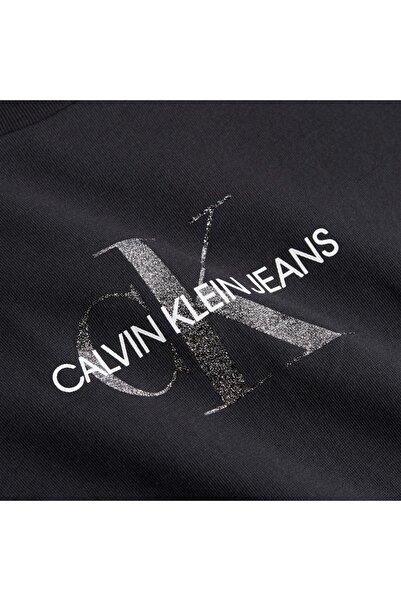 Calvin Klein Kadın Siyah Glıtter Monogram Tee T-Shirt