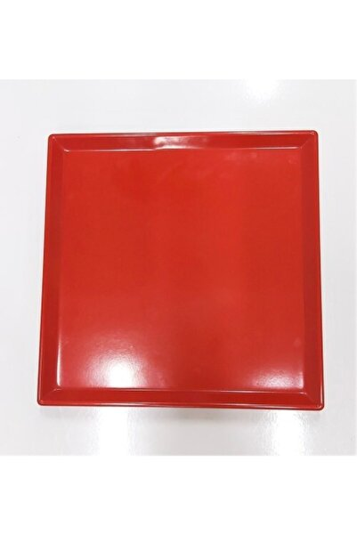 Evren 20*20cm Kırmızı Sunum Tabağı Thermo Melamin