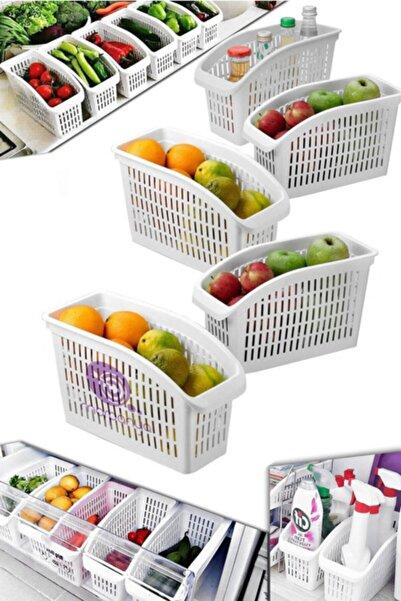 Morpanya Buzdolabı Sepeti 5 Adet Dolap Içi Düzenleyici Sepet Raf Mutfak Organizer