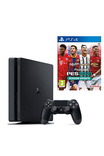 Sony Playstation 4 Slim 500 GB + PS4 Pes 2021 (Eurasia Garantili)