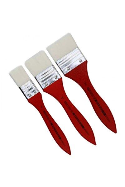 Rich Texco 1500 Serisi Zemin Fırçası 3'lü Set Kırmızı