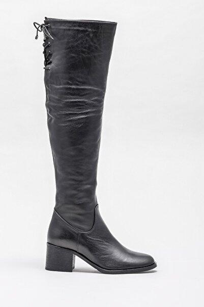 Elle Shoes Kadın Karons Sıyah Çizme 20KRE2706