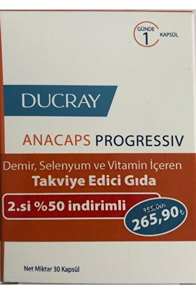 Ducray Anacaps Progressive 30 Kapsül - Ikili Paket (265,90 Tl Etiketli)