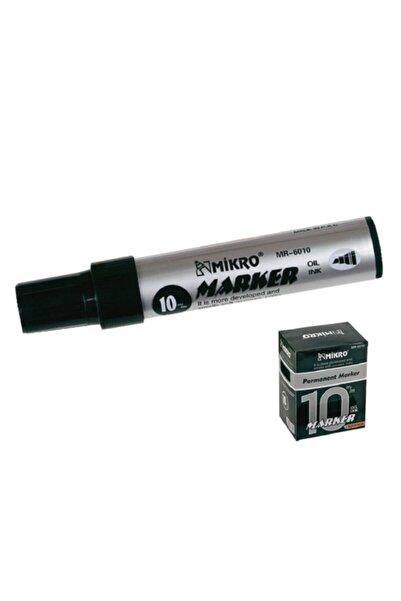 Mikro 6010 Markör Jumbo Permanent Kalem 10 Mm Siyah (12 Li Kutu)