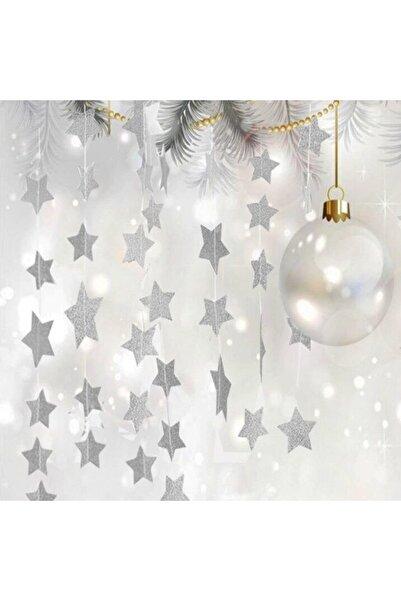 Partioutlet Simli Gümüş Renk Yıldız Flama 10 Adet