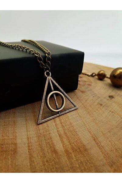 Dukkanka Harry Potter Ölüm Yadigarları Üçgen Antik Renk Kolye