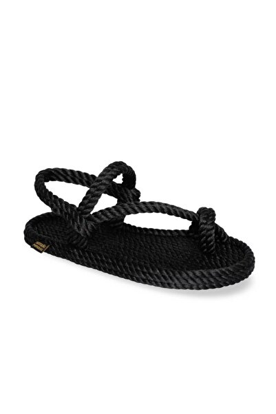 Nomadic Republic Hawaii Kadın Halat Sandalet - Siyah