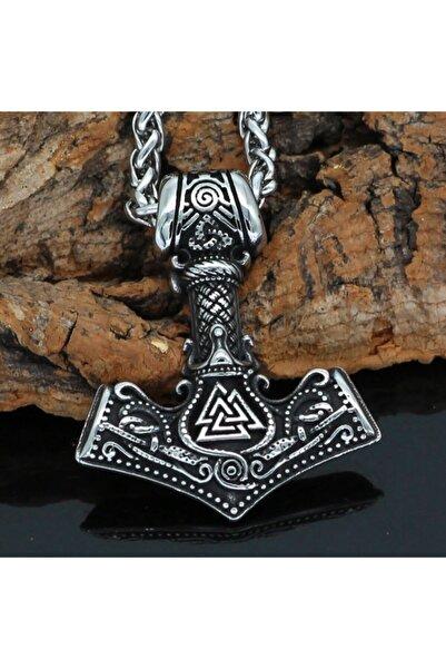 Viking Thorun Çekici Iskandinav Mitolojisi Mjollnir Tasarım 316l Çelik Kolye