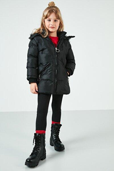 Lela Yakası Suni Kürklü Kapüşonlu Şişme Mont Kız Çocuk MONT 5766034